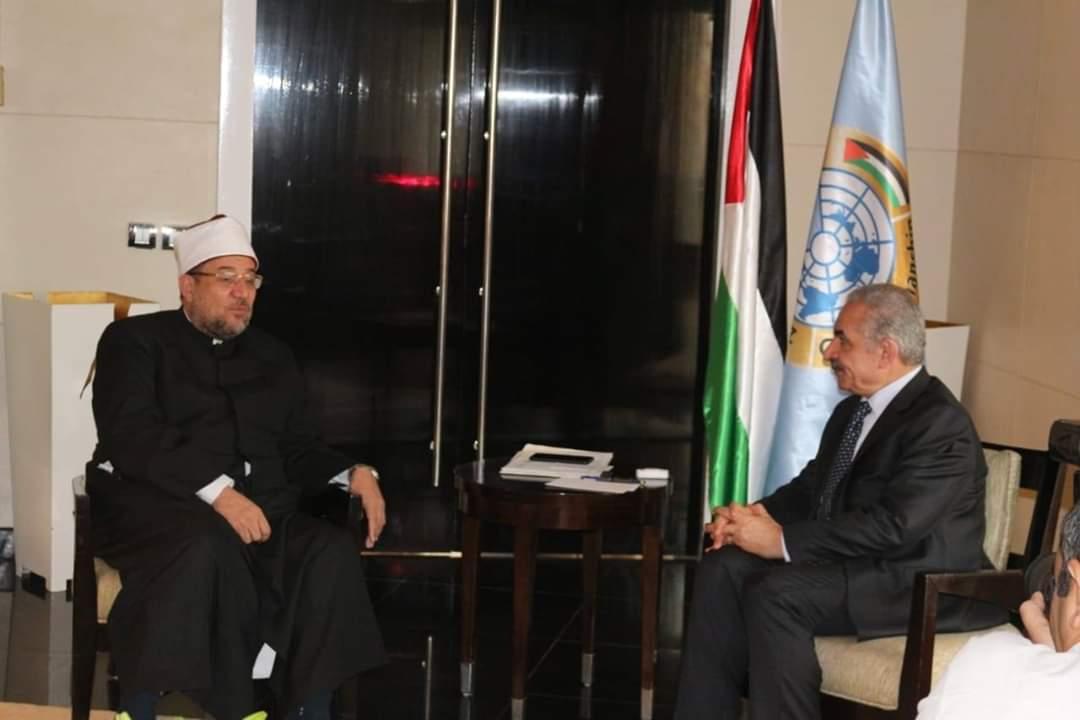 وزيري الأوقاف الفلسطيني والمصري