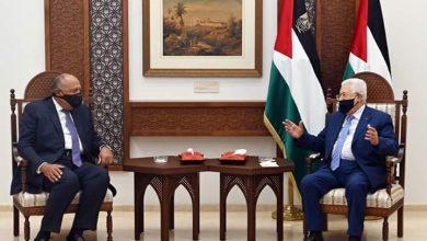 الرئيس الفلسطيني يستقبل وزير الخارجية المصري