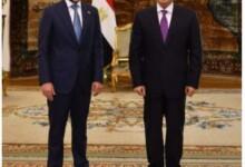الرئيس المصري يلتقي مرزوق الغانم