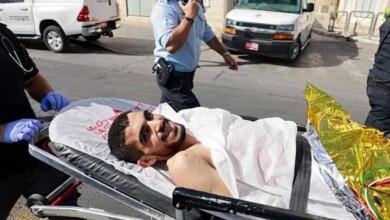 """""""الشاب المصاب بعد تنفيذه عملية الطعن في القدس باسل خالد شوامرة"""